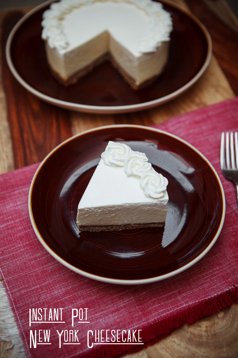 The BEST Instant Pot New York CHEESECAKE Recipe