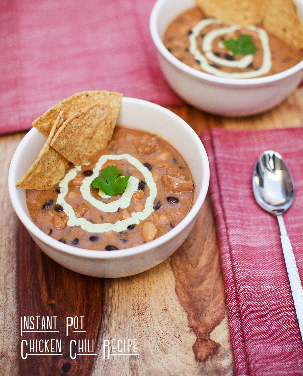 Instant Pot Chicken Chili Recipe