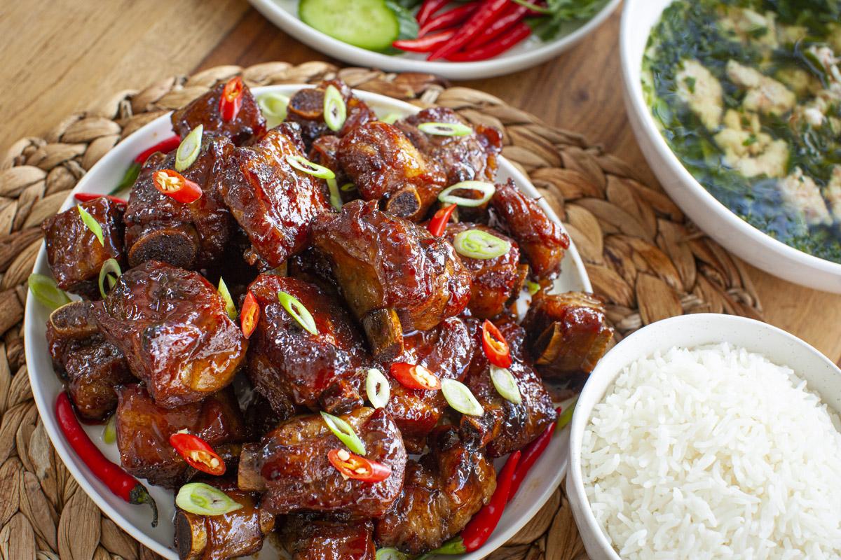 Instant Pot Vietnamese Caramelized Pork Spare Ribs Recipe (Sườn Ram Mặn)