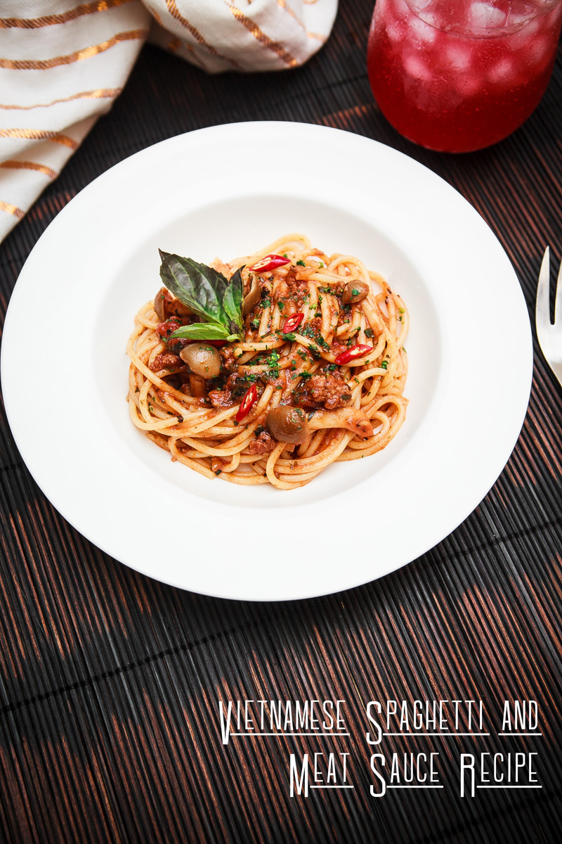 Vietnamese Spaghetti and Meat Sauce Recipe