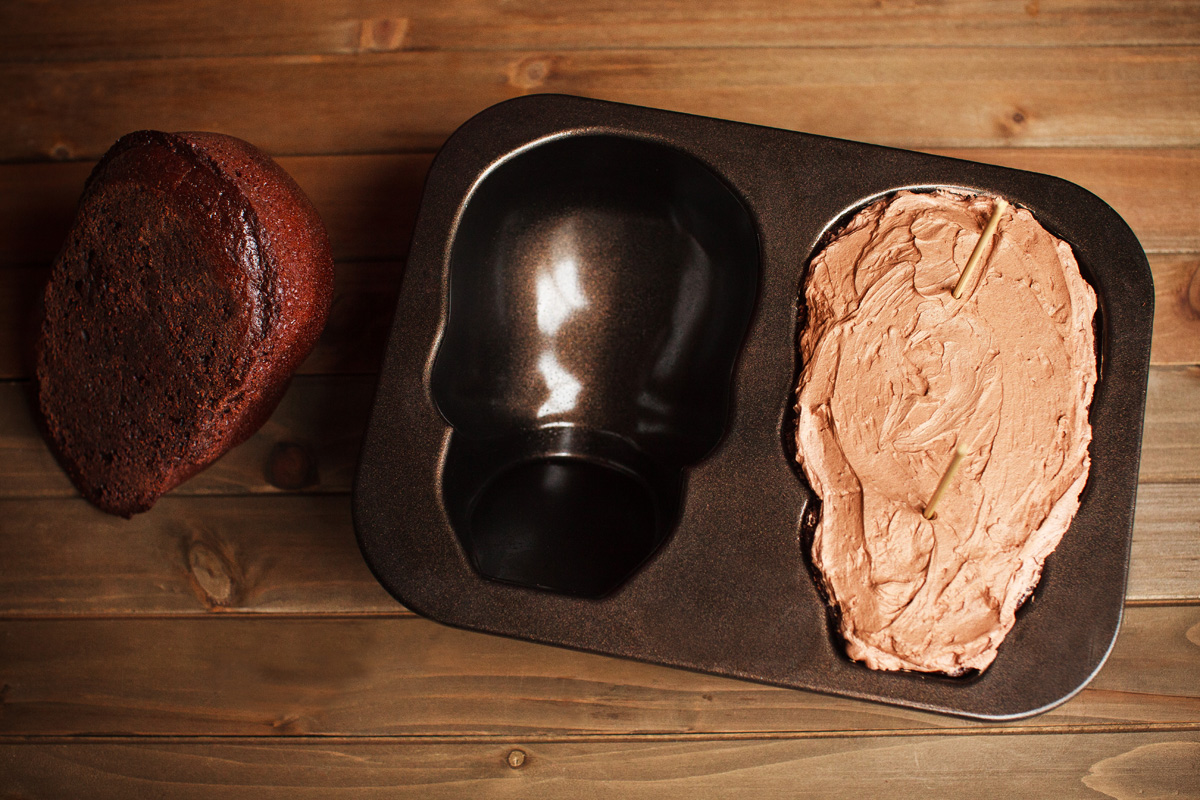 Triple Chocolate Skull Cake Recipe for Nordic Ware Skull Cake Pan