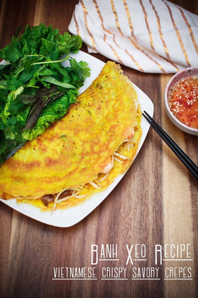 Banh Xeo Recipe (Vietnamese Crispy Savory Crepes)
