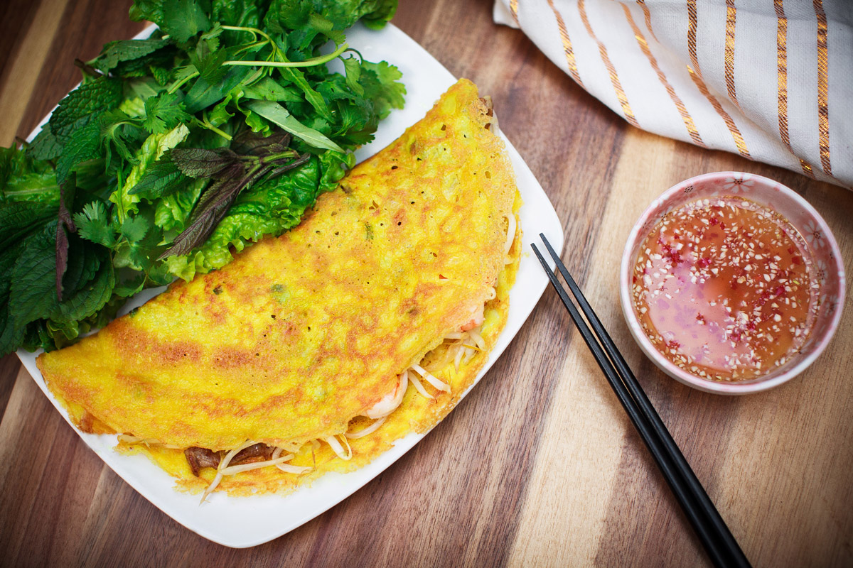 Bánh Xèo Recipe Vietnamese Crispy Savory Crepes Food Is Four Letter Word