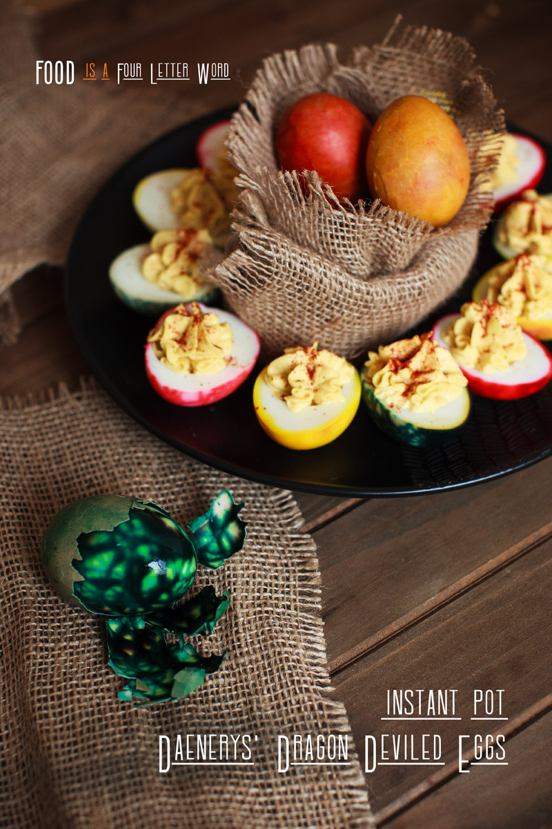 Instant Pot Daenerys Dragon Deviled Eggs Recipe - Game of Thrones