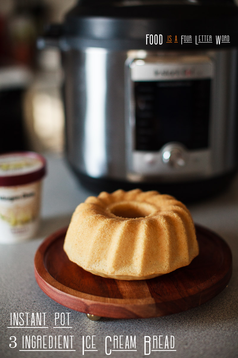 Instant Pot 3-Ingredient Ice Cream Bread