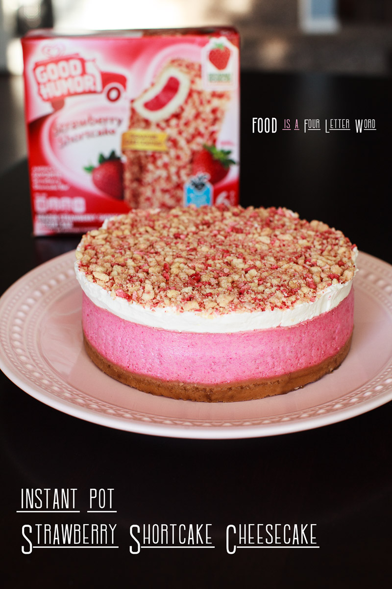 Instant Pot Strawberry Shortcake Cheesecake Recipe