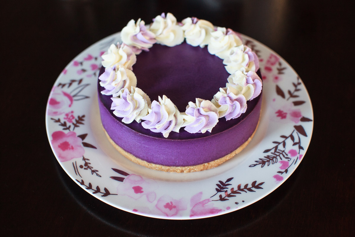 Instant Pot Ube Cheesecake Recipe