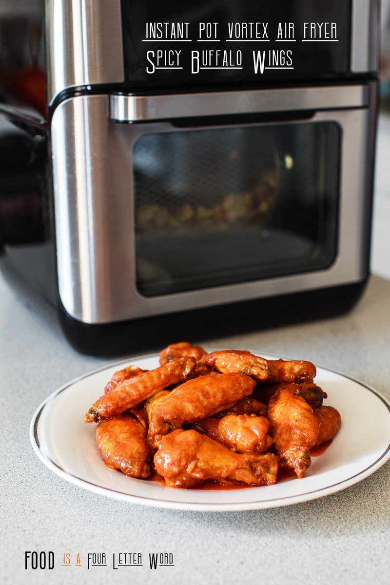 Air Fryer Spicy Buffalo Wings Recipe Food Is Four Letter Word