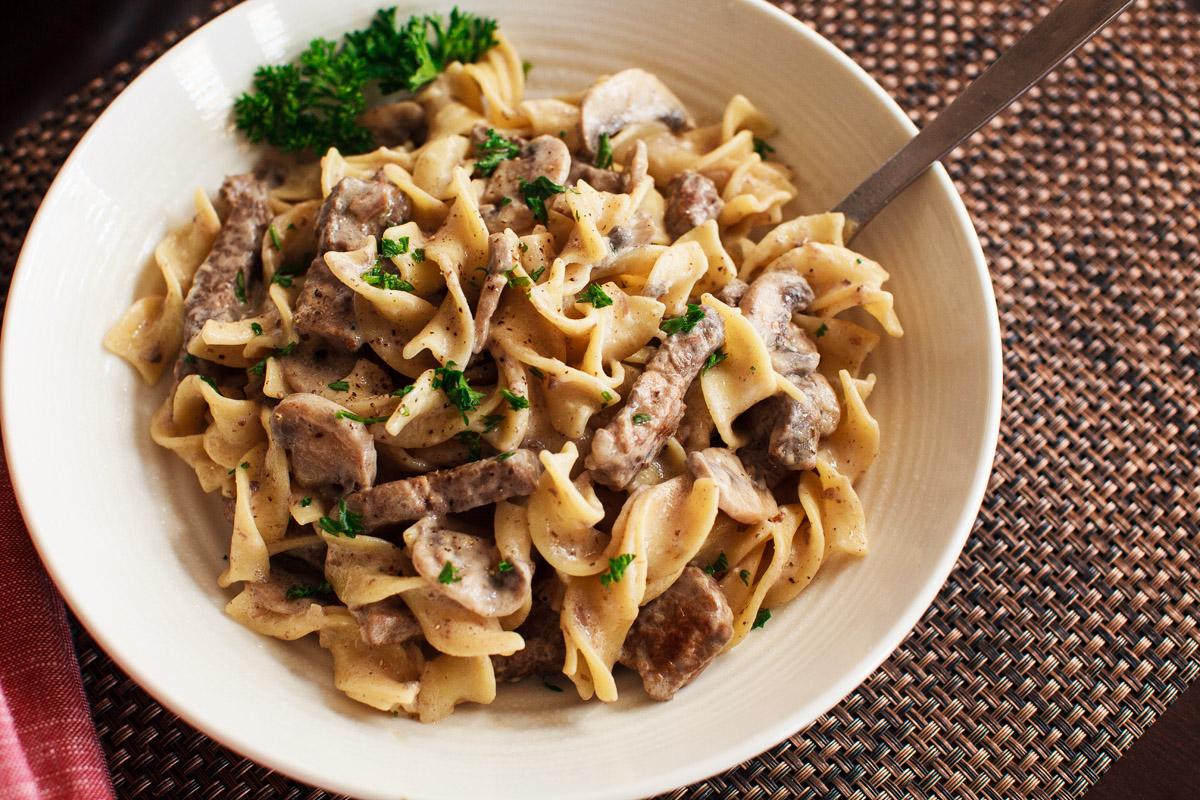 Instant Pot Beef Stroganoff Recipe (from Frank Lloyd Wright's A Taste of Taliesin West Cookbook)