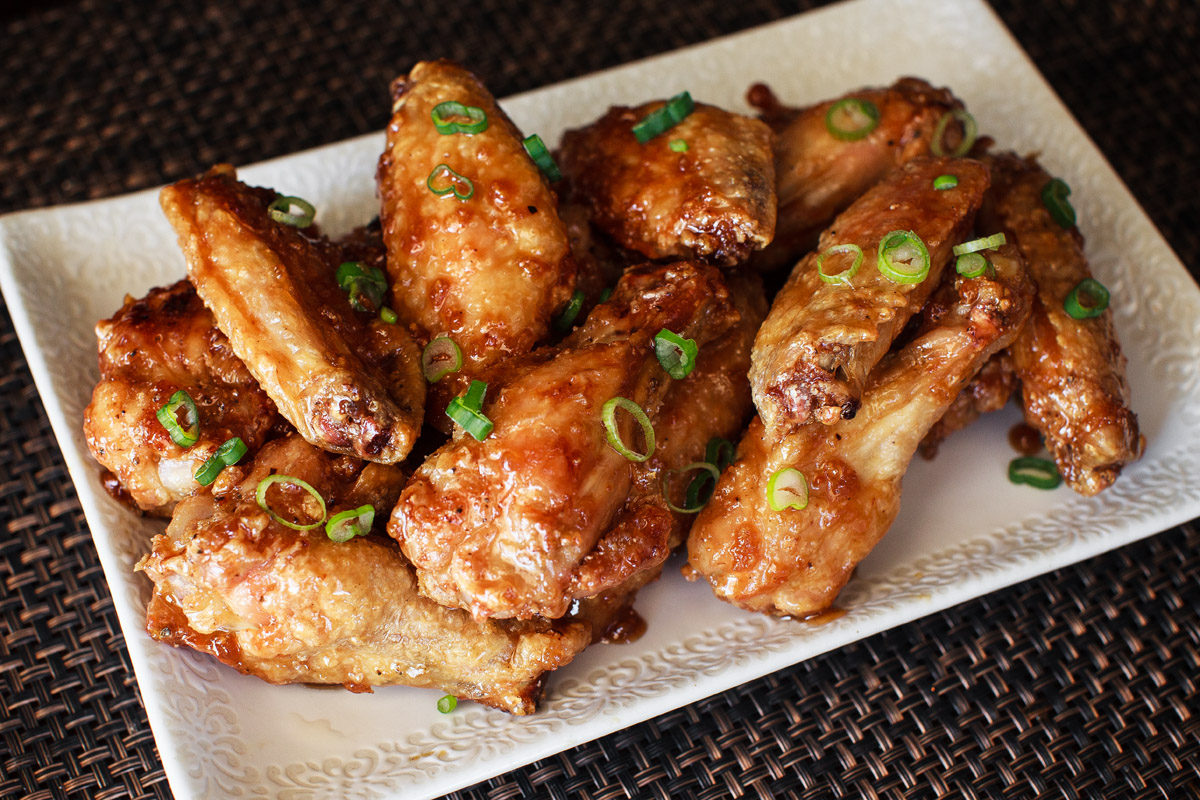 Air Fryer Sticky Honey Soy Garlic Wings Recipe