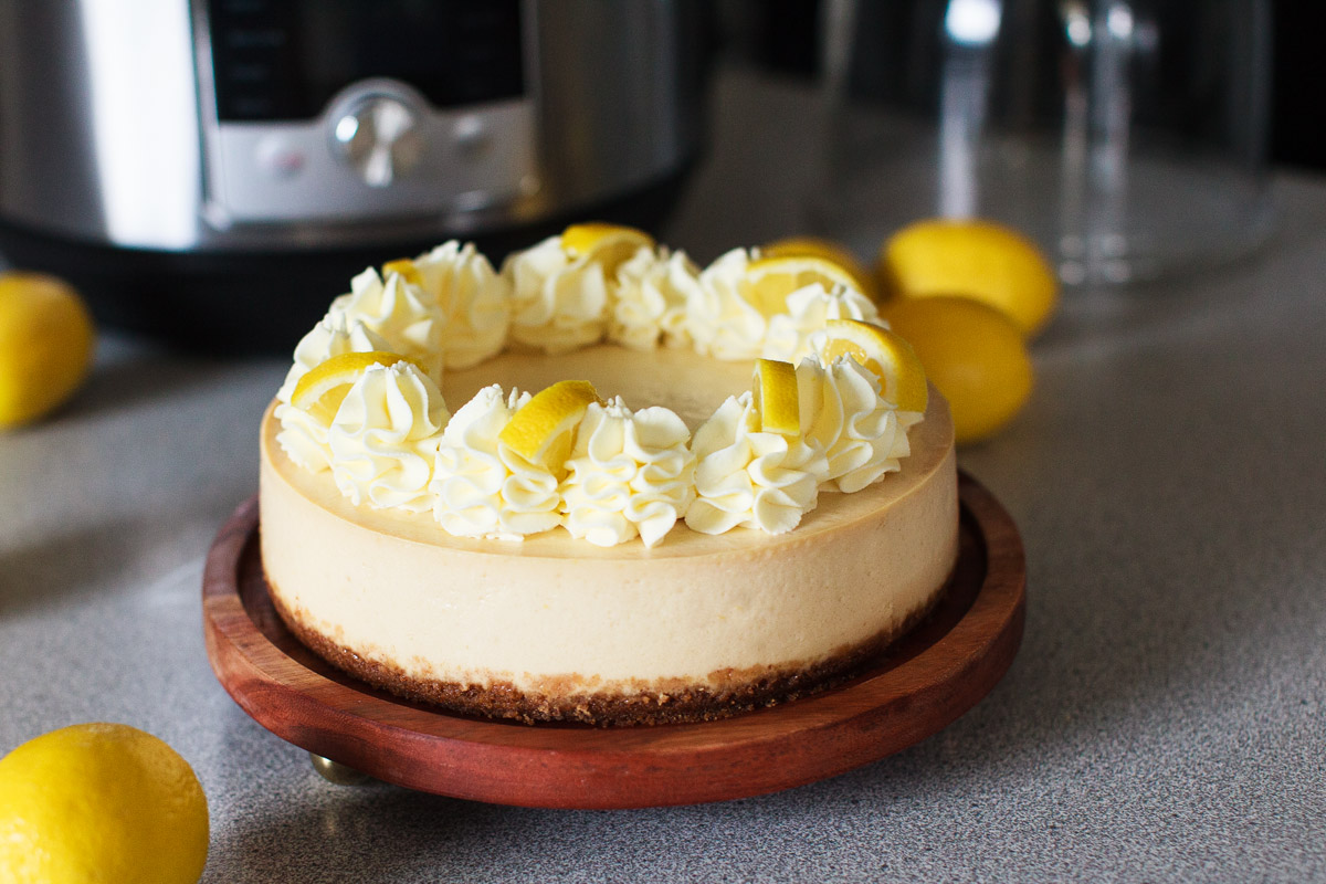 Instant Pot Creamy Lemon Cheesecake Recipe