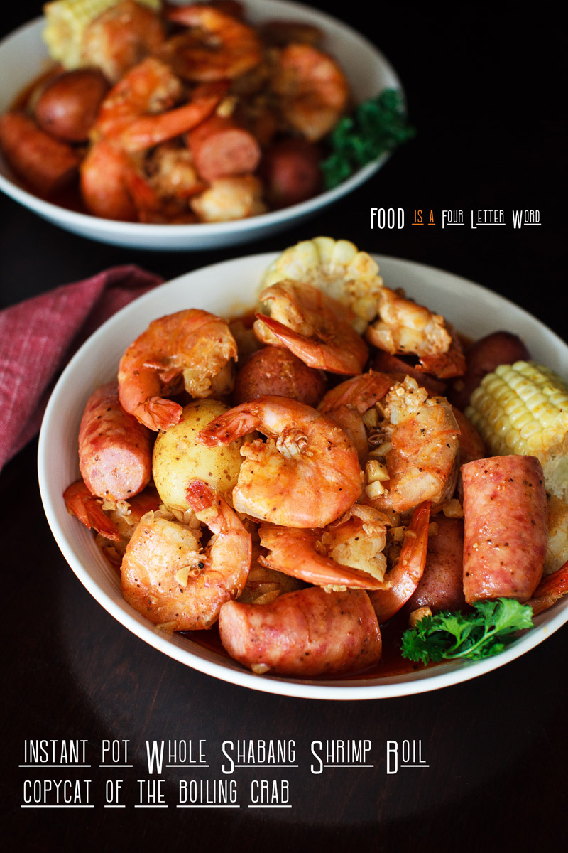 Instant Pot Whole Sha-Bang! Shrimp Boil Recipe (CopyCat of The Boiling Crab)