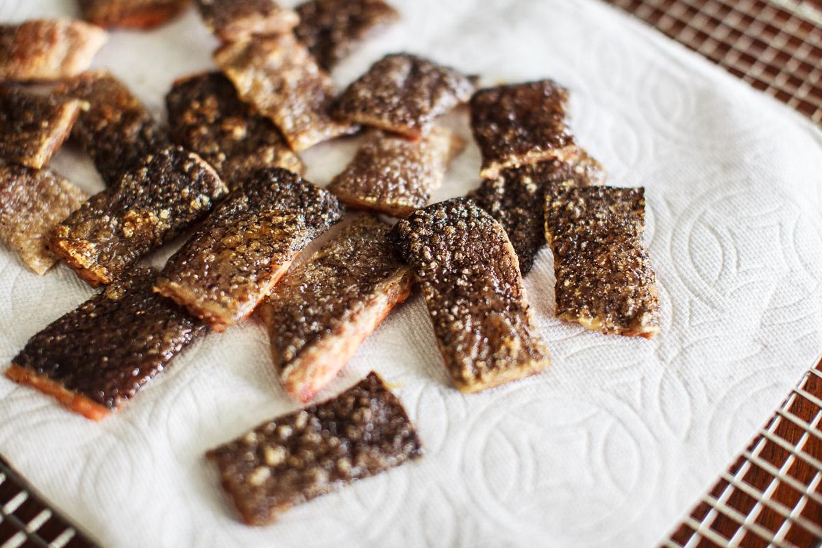 Oven Roasted Crispy Salmon Skin