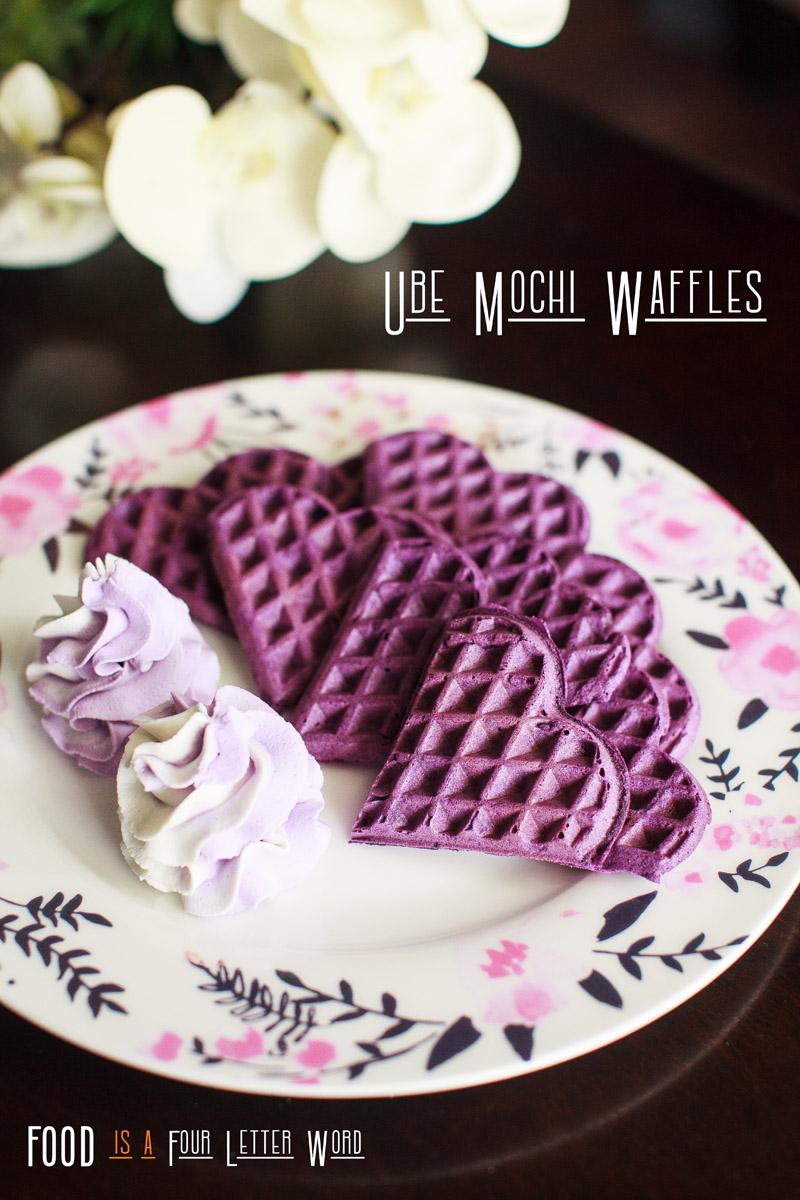 Ube Mochi Waffles Recipe