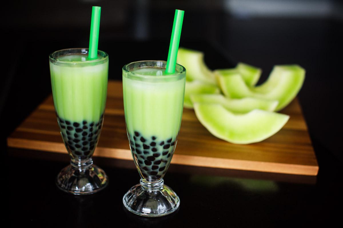 Fresh Honeydew Bubble Tea Recipe - Honeydew Milk Tea with Boba