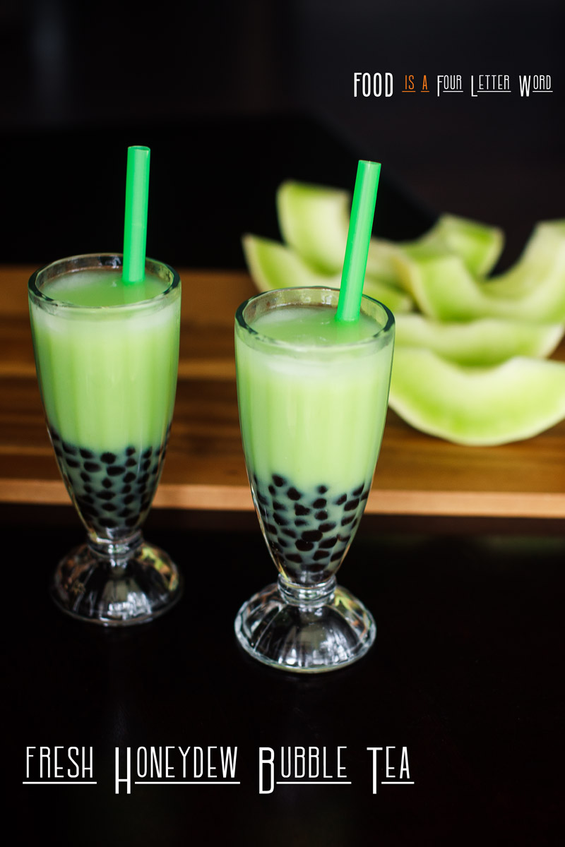 Fresh Honeydew Bubble Tea Recipe - Honeydew Milk Tea with Boba