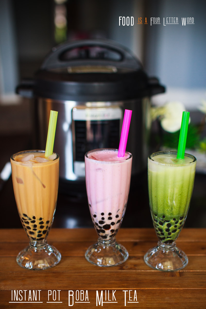Instant Pot Boba Pearls Recipe + Bubble Milk Tea