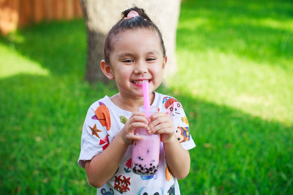 Strawberry Milk Boba Drink Recipe - Caffeine Free