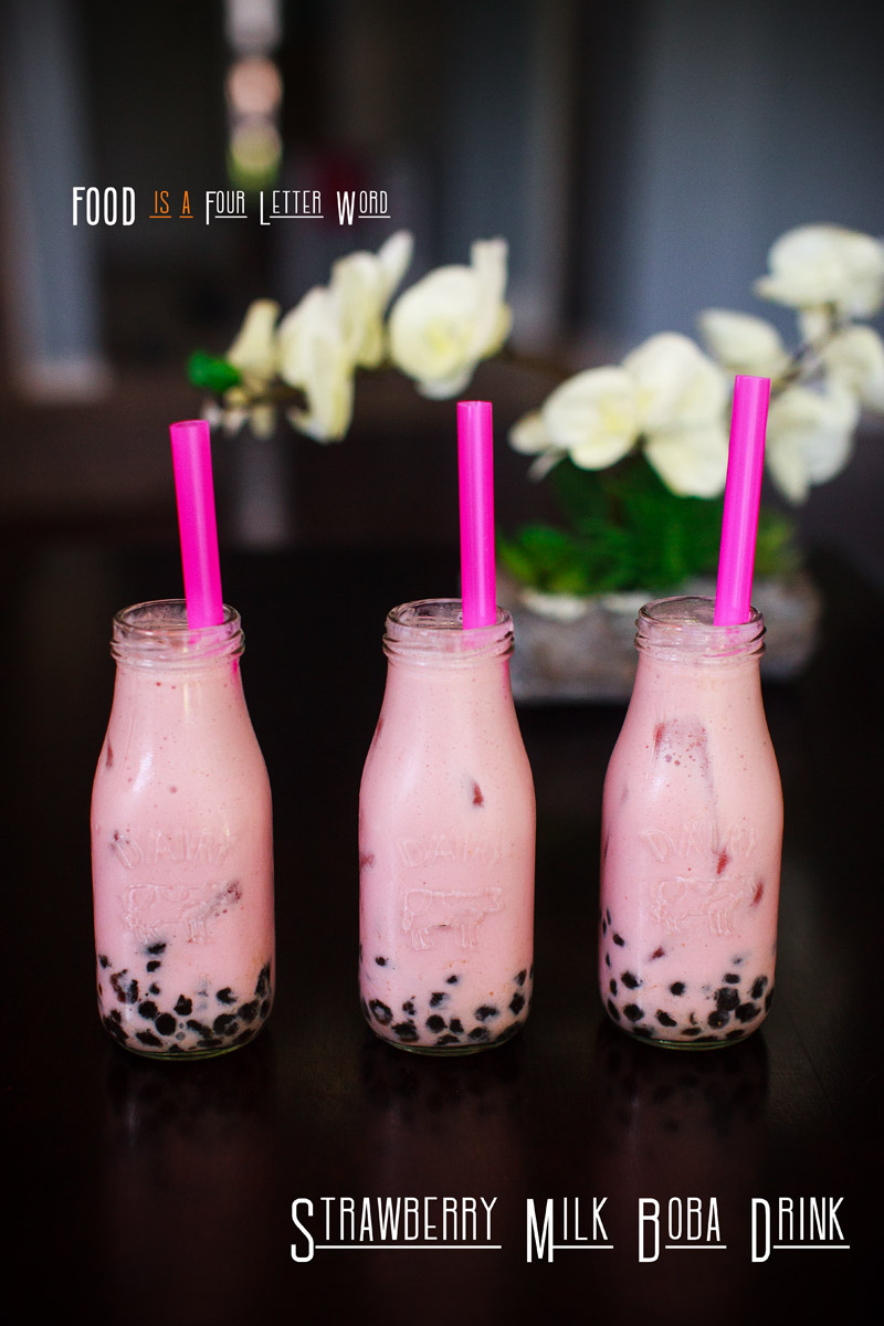 Strawberry Milk Boba Drink Recipe - Caffeine Free