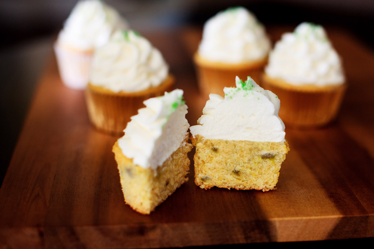 Hatch Green Chile Cornbread Cupcakes with Honey Buttercream Recipe