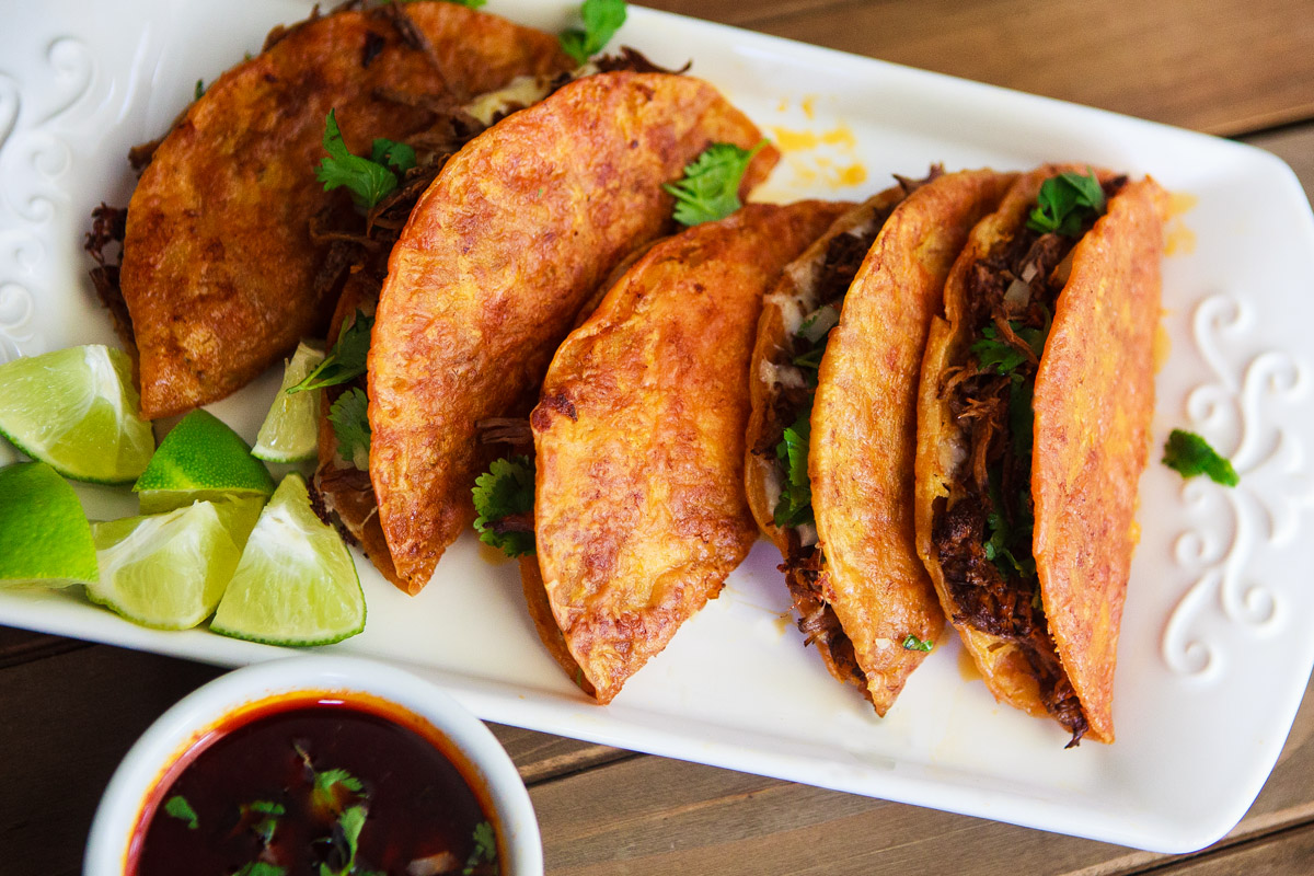 Instant Pot Birria Tacos with Consomme Recipe - Birria Quesa Tacos Con Consomé