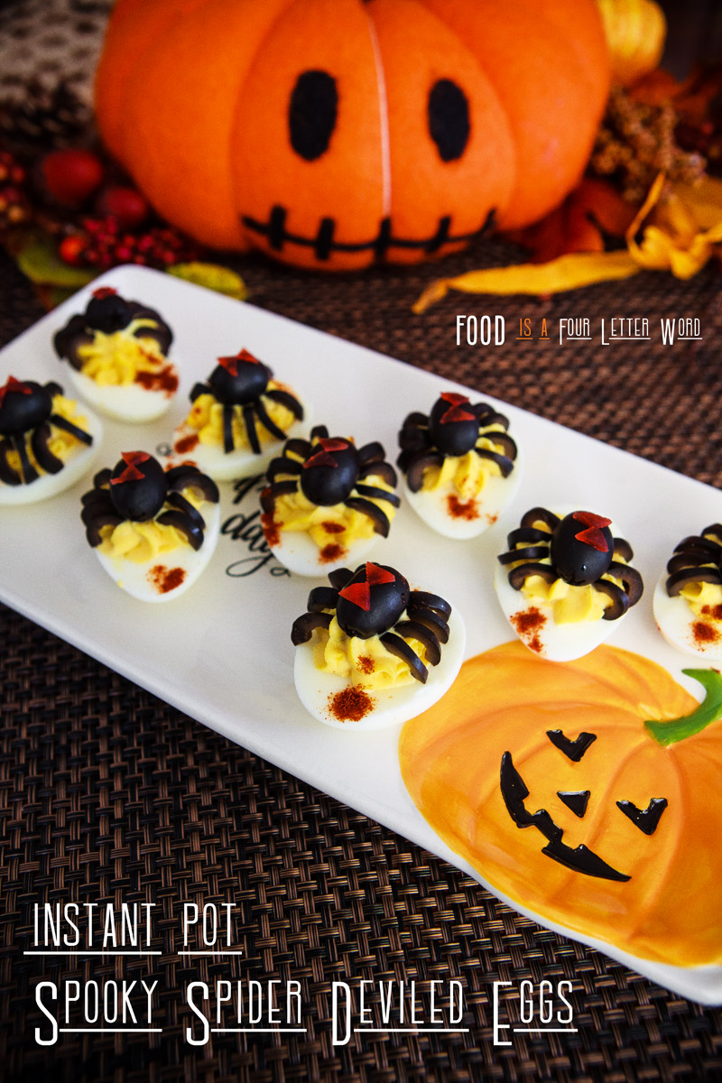 Instant Pot Spooky Spider Deviled Eggs Recipe