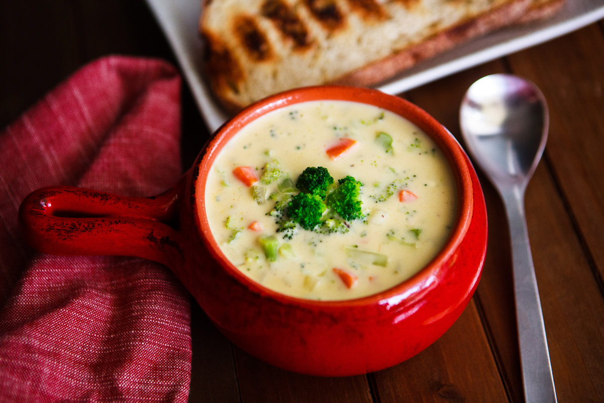 Trader Joe's Unexpected Cheddar Broccoli Soup Recipe