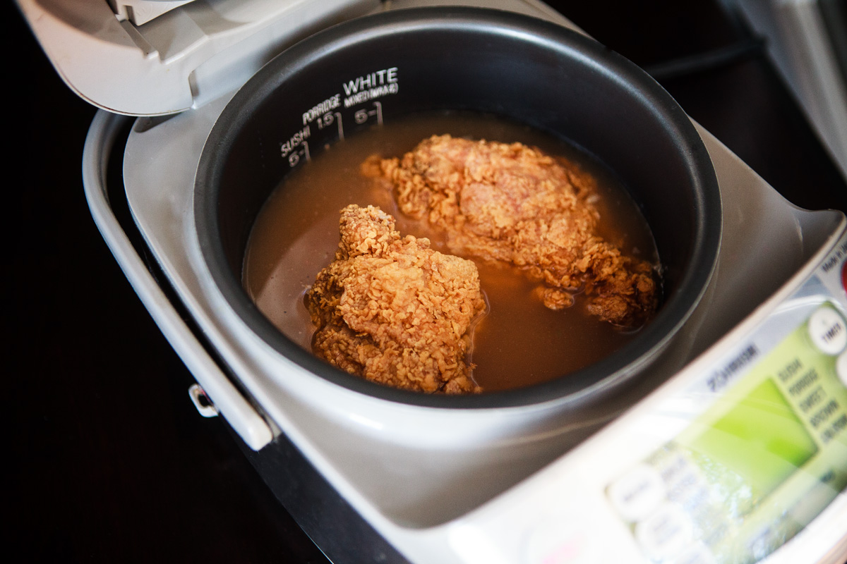 Fried Chicken Rice Cooker Hack Recipe