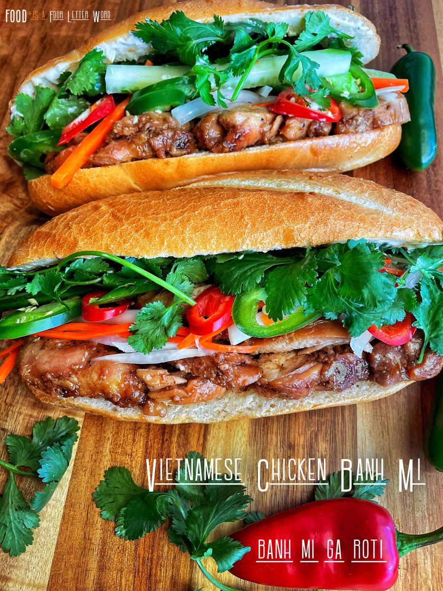 Banh Mi Ga Roti Vietnamese Chicken Banh Mi