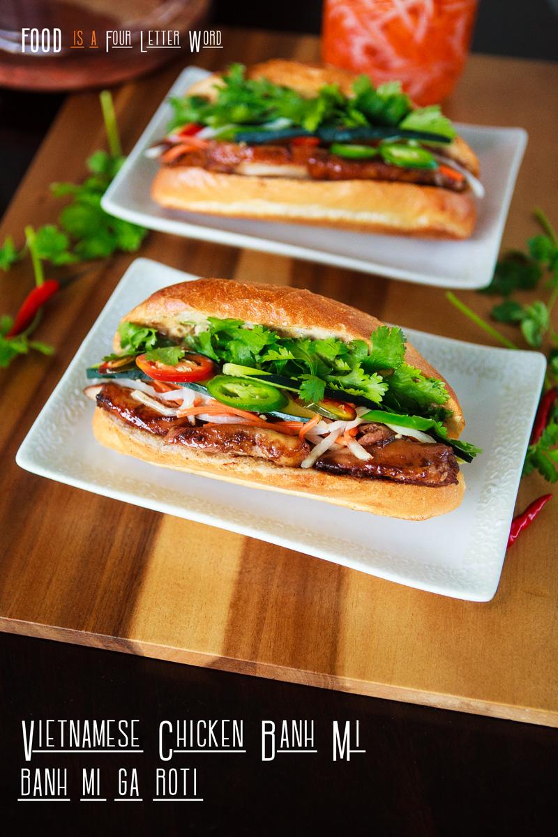 Vietnamese Chicken Banh Mi Recipe - Bánh Mì Gà Roti