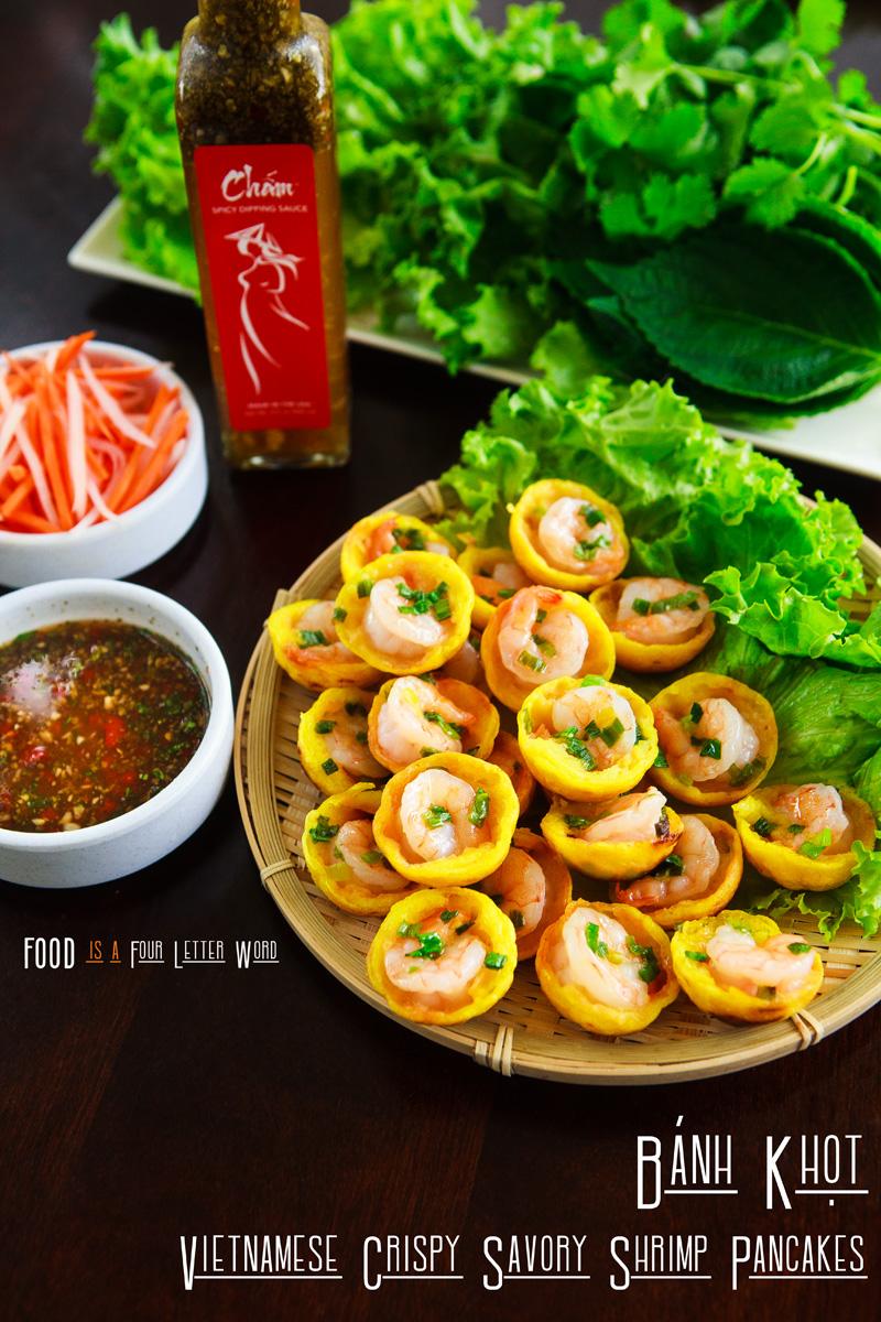 Vietnamese Crispy Savory Shrimp Pancakes Recipe - Bánh Khọt