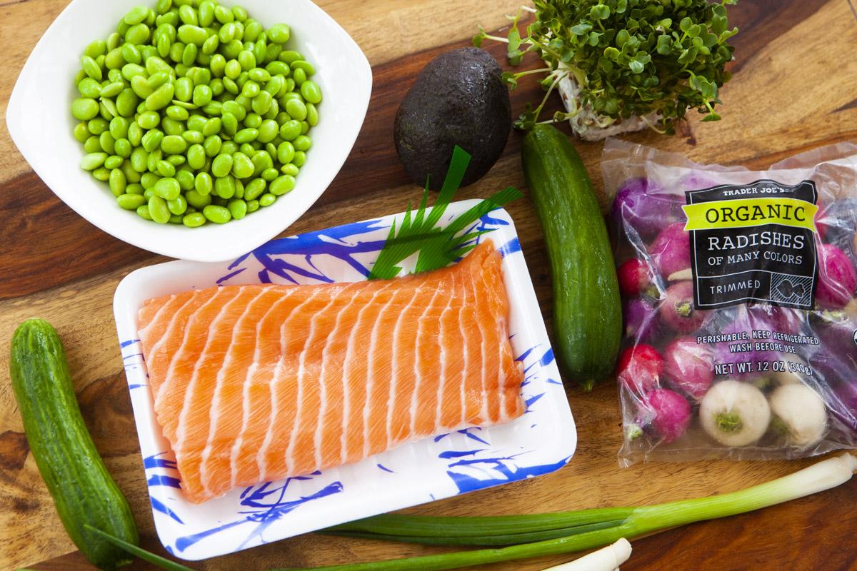 Shoyu + Spicy Mayo Salmon Poke Bowl Recipe