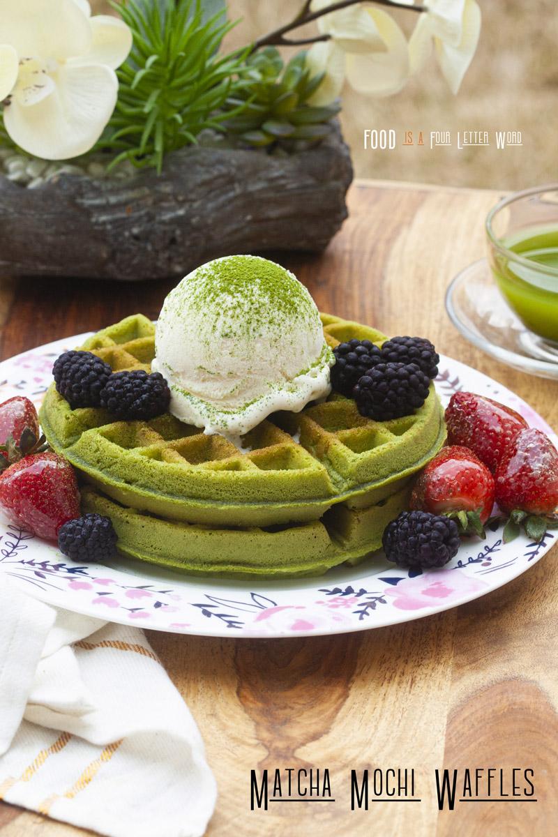 Matcha Mochi Waffles Recipe