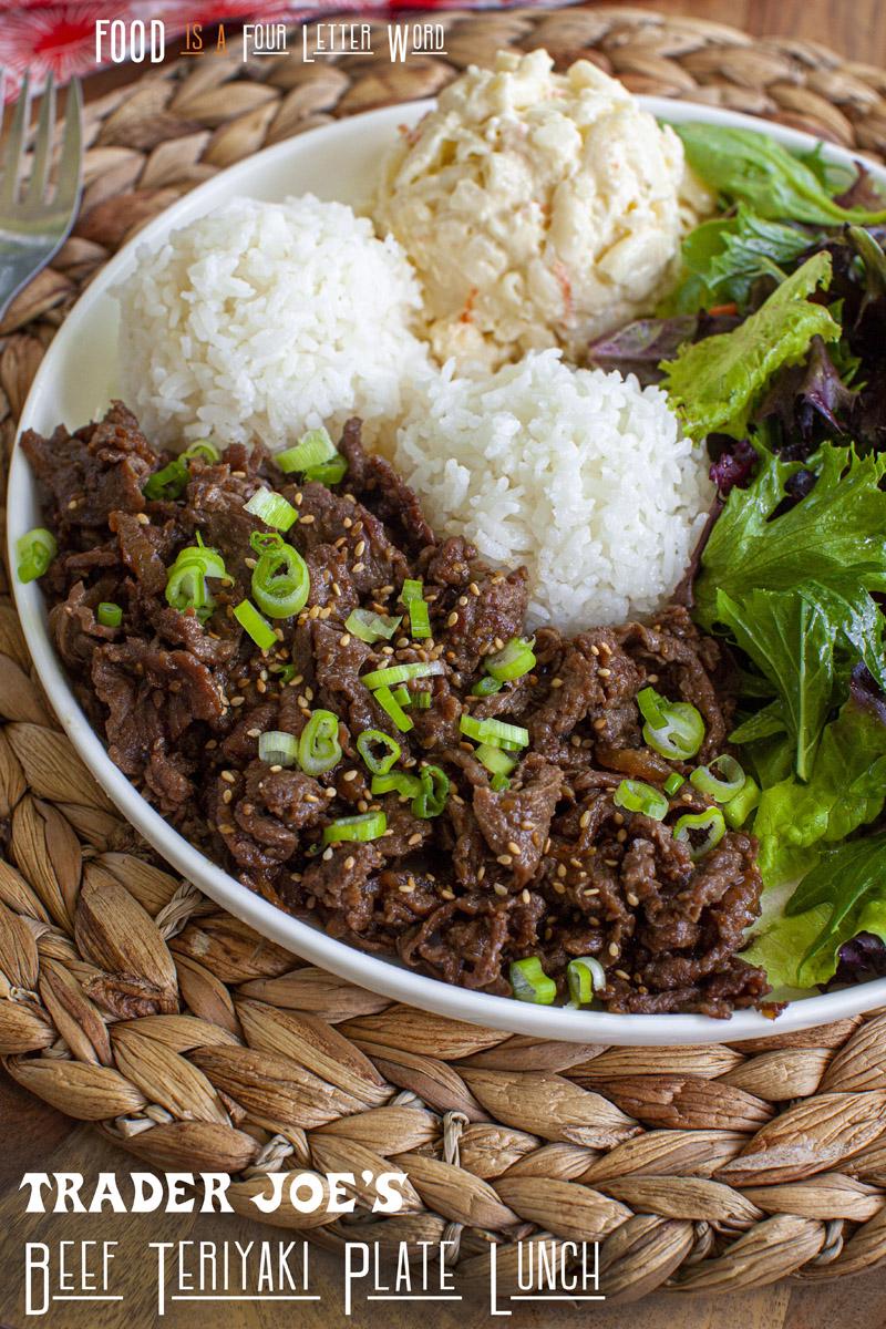 Trader Joe's Hawaiian Beef Teriyaki Plate Lunch Recipe