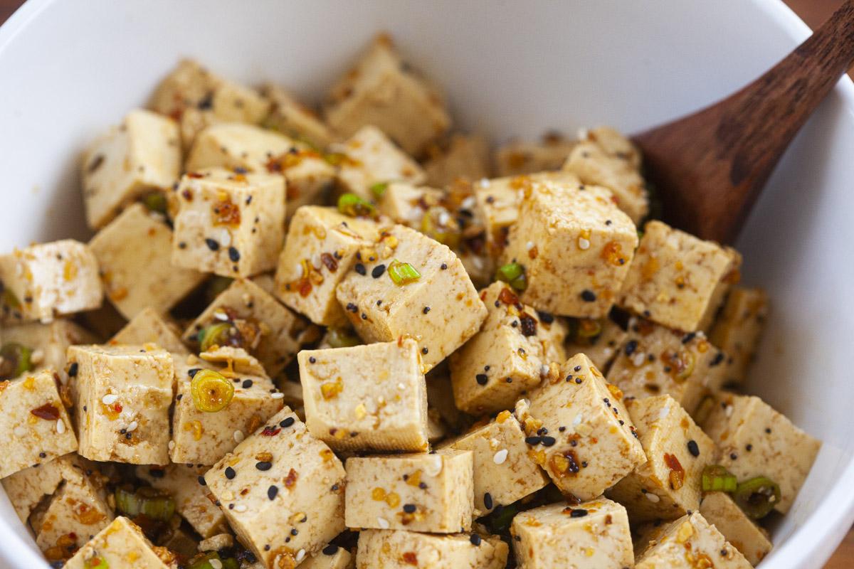 Trader Joe's Tofu Poke Bowl Vegan Recipe