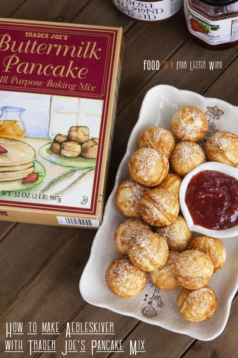 How to make Aebleskiver with Trader Joe's Buttermilk Pancake Mix (Round Danish Pancakes Recipe)