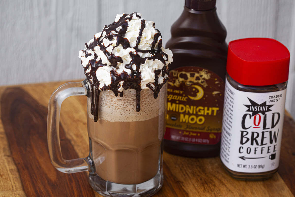 Mocha Frappuccino Recipe using Trader Joe's Instant Cold Brew Coffee