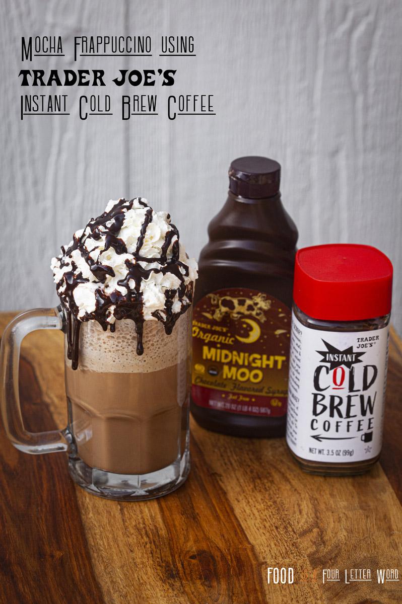 Mocha Frappuccino Recipe using Trader Joe's Instant Cold Brew Coffee