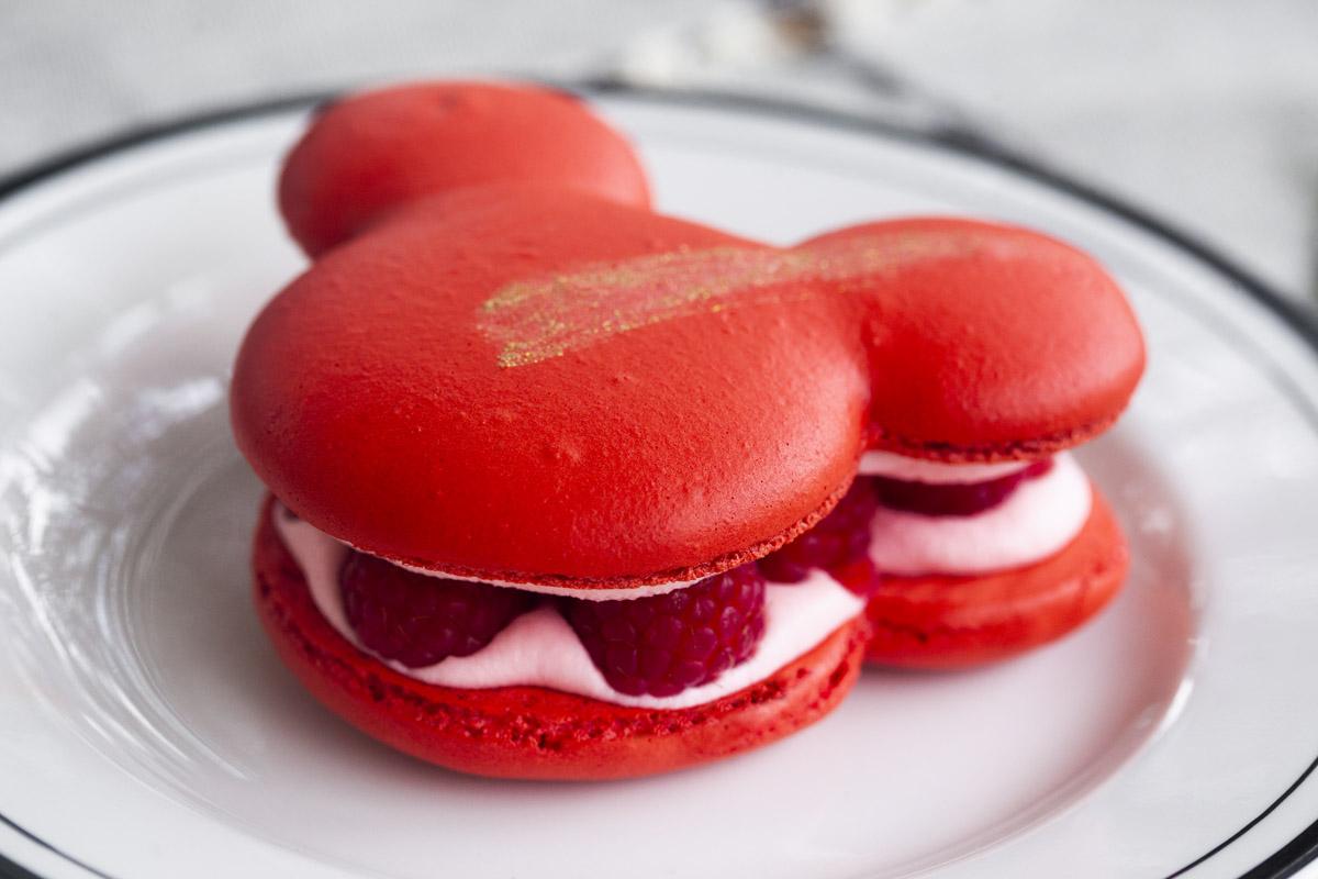 Disneyland's Raspberry Rose Mickey Macaron Recipe