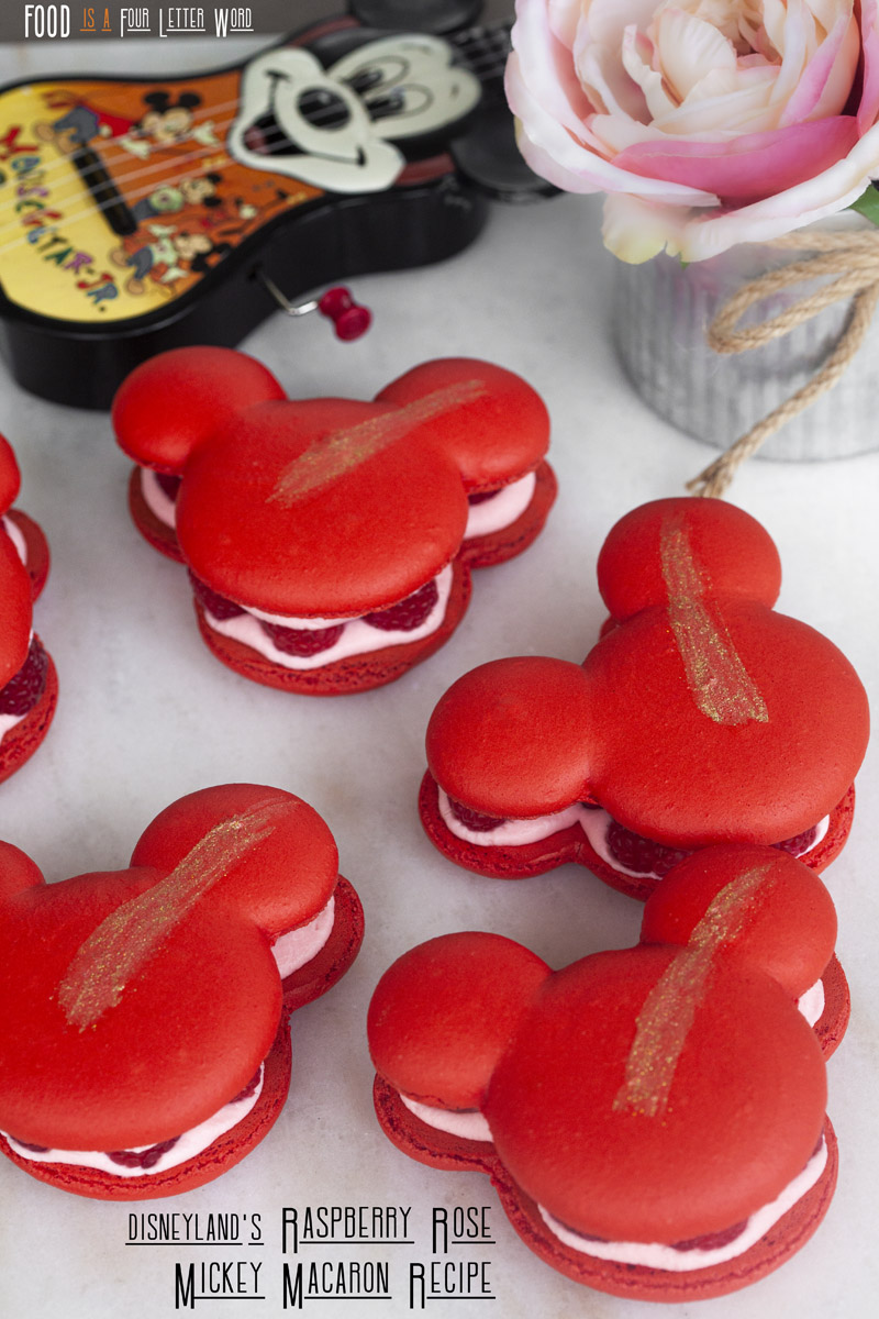 Disneyland's Raspberry Rose Mickey Macaron Recipe