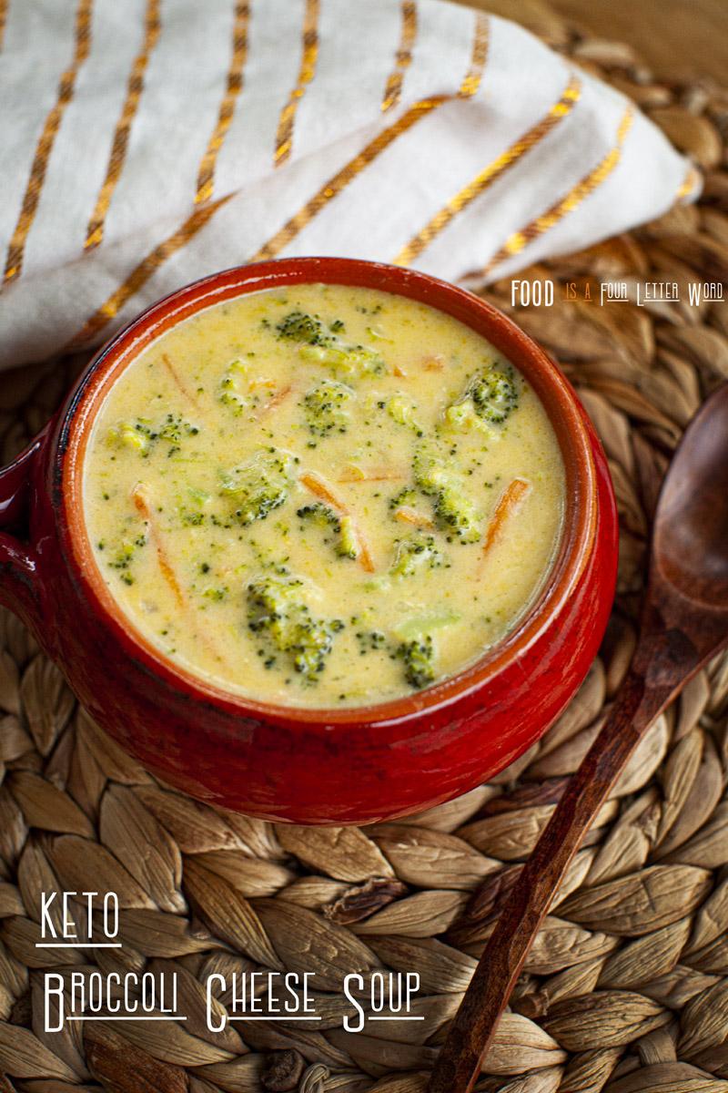 KETO Broccoli Cheese Soup Recipe