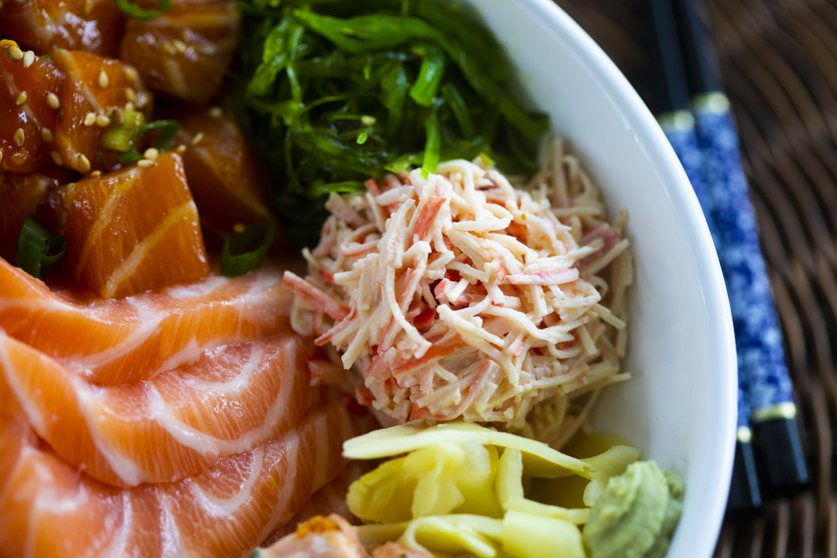 Spicy Crab Salad Recipe for Poke Bowls (kanikama)
