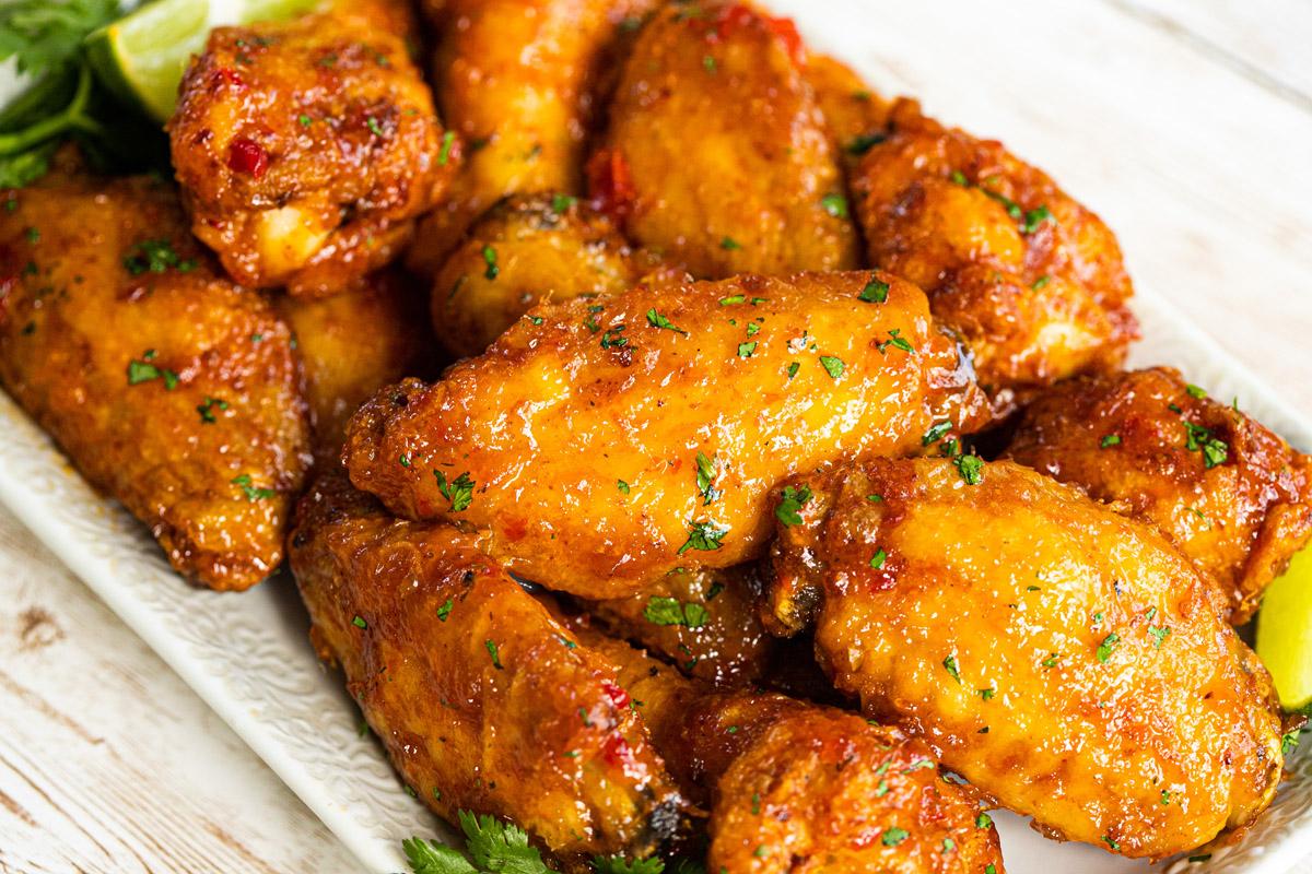 Air Fryer Mango Habanero Chicken Wings Recipe