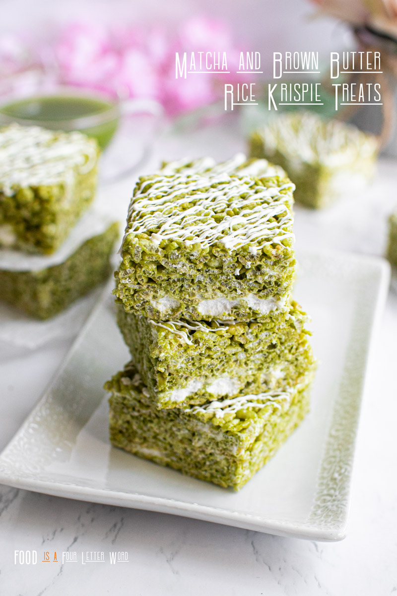 Matcha and Brown Butter Rice Krispie Treats Recipe