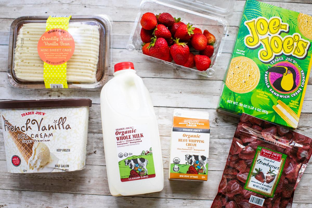 Trader Joe's Strawberry Crunch Cake Milkshake Recipe