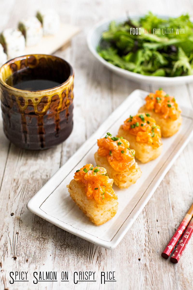 Spicy Salmon on Crispy Rice Recipe