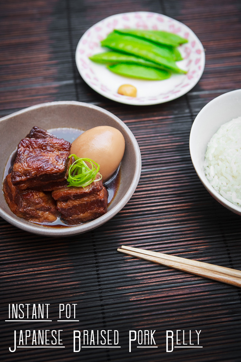 Instant Pot Japanese Braised Pork Belly Recipe (Kakuni)