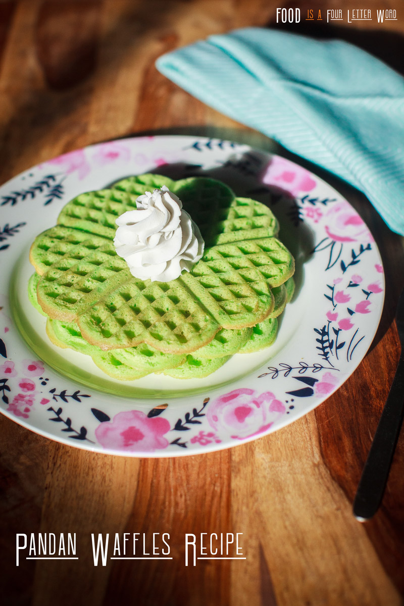 Pandan Waffles Recipe (Bánh Kẹp Lá Dứa)