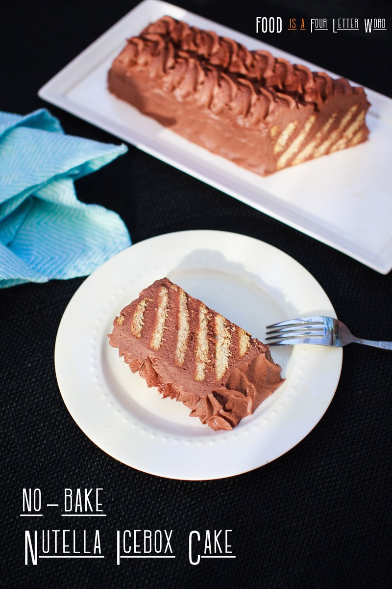 No Bake Nutella Cake Recipe, 3-Ingredient Icebox Cake