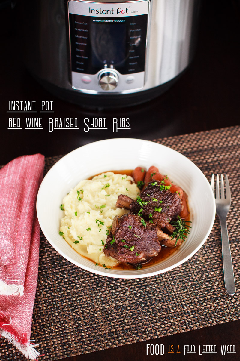 Instant Pot Red Wine Braised Short Ribs Recipe